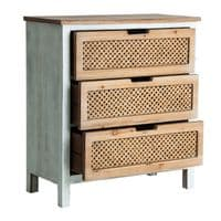 Daisy Wooden White Chest Of Drawers - ChicParadisLux